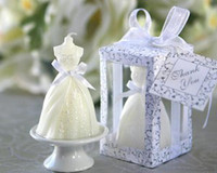 Wholesale Elegant Wedding Gown Candle Favors set of for Wedding Party Gifts Stuff Supplies Retail