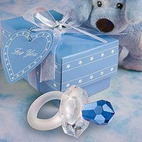 Wholesale Crystal Pacifier Baby Shower Favor More Colors for Party Favors Gifts Stuff Supplies