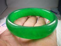Wholesale NATURE BEAUTIFUL Full green LAVENDER JADE JADEITE BRACELET BANGLE MM