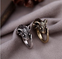 Wholesale Vintage Ring Plating Bronze Silver Mouse Finger Ring For Women And Men Mixed Colors
