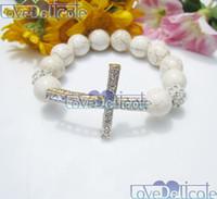 Women's beaded sideways cross bracelet - Handmade sideways cross Bracelet Side ways cross bracelets Handmade Jewelry