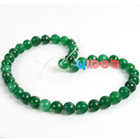 Wholesale 115 Virid Malay Quartz Jade Round Faceted Charms Beads Fit Necklaces Bracelets Necklaces DIY