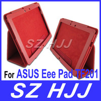 Wholesale Colorful PU Leather Stand Case For ASUS Eee Pad TF201 Synthetic PU Imitation Leather Pouch Bag Cases