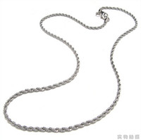 Wholesale 51cm chains stainless steel necklace silver mens jewelry fried dough twist chain link chain BY79744