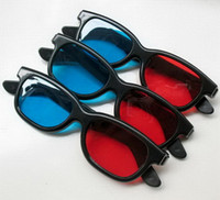Wholesale 3D anaglyph red cyan Plastic Glasses for movie DVD Adult Men Women