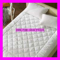 Wholesale 100 A grade Mulberry Silk Filled Mattress Pad Single M For Summer