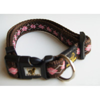 Brand New Pet Collar and Leashes with Brown Nylon Material