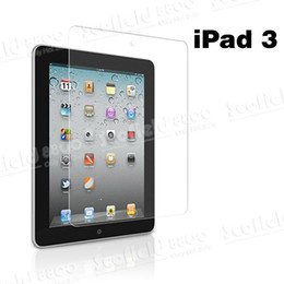 Wholesale Latest Clear LCD Screen Protector Film Guard Guarder for iiPad3 The New iPad Pad2 inch Tablet PC