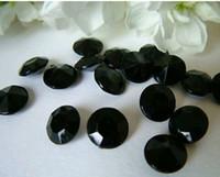 Wholesale 1000pcs mm wedding CT Diamond black Table Scatter Crystal Confetti Decoration Gems pick color