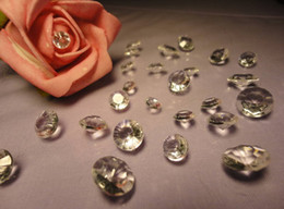 1000pcs lot 10mm diamond shaped wedding 4CT gold Table Scatter Crystal Confetti Decoration Gems pick color