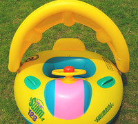 Wholesale Baby and beach Children swim ring inflatable boat ride baby water toys