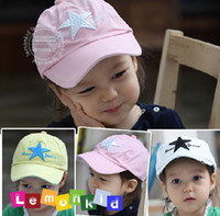 Wholesale Baby hats boys girls baseball cap Lovely children cap yellow white pink baby hat infant caps xhb zsz