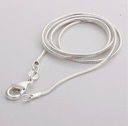 Wholesale 10pcs sterling silver mm snake chain inch inch
