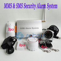 Wholesale DHL Shipping MMS DVR GSM Burglar Security Alarm System With MMS amp SMS Motion Detect IR Camera SC