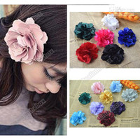 Cheap 15pcs Very cute Arrivals Hair Jewelry Accessories Camelia Flower Hair Clip Fabric df ds