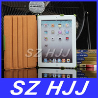 Wholesale Genuine Distressed Leather Stand Case Pouch For The New iPad iPad Mother Day Gift Folio Cases