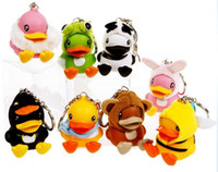 Wholesale B Duck action figure Hanging wire set Mobile Strap Phone Chain keychina