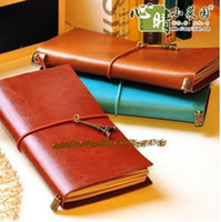 antique leather books - Stationery Diary Book Notepad Notebook Memopad Agenda Travel Planner Antique vintage leather cover