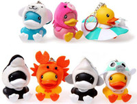 Wholesale B Duck ocean series action figure Hanging wire set Mobile Strap Phone Chain keychina