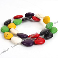 wholesale semi precious beads - Strings Multicolor Waterdrop Gemstone Howlite Turquoise Bead Semi precious jewelry