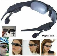 venda por atacado mp3, óculos de sol-4GB TF fone de ouvido Mp3 mp3 jogador sunglasses óculos de sol de vidro sem câmera óculos de sol 3PCS