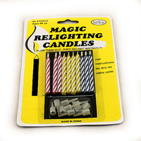 Wholesale Pieces Magical Relighting Candles Magic Candle For Birthday Christmas Party