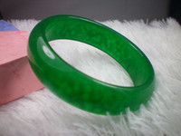 Wholesale NATURE BEAUTIFUL DARK GREEN JADE JADEITE BRACELET BANGLE MM