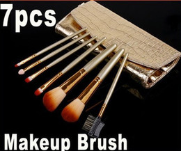 Wholesale Professional Makeup Brush Cosmetic Brushes Set with Gold Leather Case HB8092