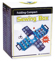 Wholesale new Portable Compact Foldaway Sewing Box with needle thread sewing kit sewing tool
