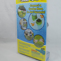 Wholesale SNAP easy slide on off water hose connector Garden Hose Adapter with Bonus Nozzle