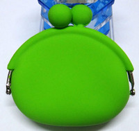 Wholesale POCHI Cute Silicone Coin Purses Wallet Rubber Wallets Bag Case Colors