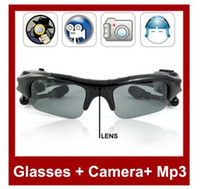 Wholesale SunGlasses Camera Sun Glasses Camera Mini DV Audio Video Recorder MP3 Player GB TF Card Slot
