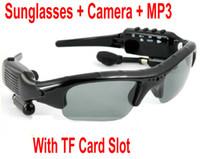 Wholesale SunGlasses Camera Sun Glasses Camera Mini DV Audio Video Recorder MP3 Player GB TF Card Slot