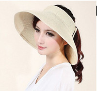 Wholesale Summer Sunshade Hat Foldable Air Top Hat Sun Hat Beach Hat