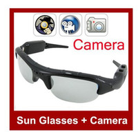 Wholesale 4GB Sun Glasses Camera HD Video Camera Sunglasses Camera Mini DVR With SD Card Slot Hidden Camera