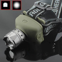 Wholesale Piece NEW ZOOMABLE ZOOM W FOCUS CREE LED HEAD LAMP LIGHT TORCH