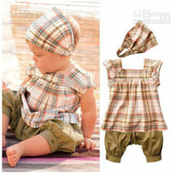 1-3years aa shirts - baby New Arriving girls suits headband t shirt pants set children cloth kid s clothing aa