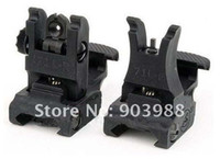arms front sight - New A R M S L ARMS Polymer Front amp Rear Flip up Sight Black