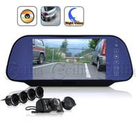 Wholesale Complete Car Reversing Set Rearview Camera Parking Sensors Rearview Mirror CE147044