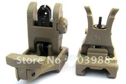 New A.R.M.S. #71L ARMS Polymer Front & Rear Flip-up Sight tan
