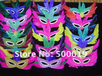Wholesale feather mask mardi gras mask halloween mask