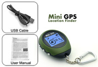 Wholesale Mini Handheld GPS tracker receiver Navigation For Outdoor Sport Travel Location Finder Keychain