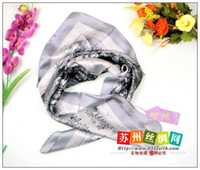 Wholesale FJ31120 smooth elastic Large square shawl Crepe Satin Plain silk scarf silk Xm Christmas gift