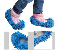 Wholesale Slippers fuzzy house floor cleaner for lazy girls cleaning dust mop lady women shoes