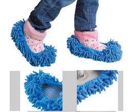 Zapatillas limpiador de piso de la casa difusa para chicas perezosas limpieza trapeador dama women'shoes # 1673