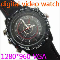 8G watch dvr recorder - HD Waterproof Watch Camera Spy Watch DV DVR Sercurity recorder hidden Camcorder webcam support set time GB