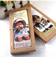Birthday antique birthday card - 30pc set Bookmarks greeting card paper antique vintage gift craft Monchhichi doll lovely fancy