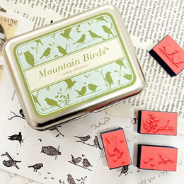 Wholesale Birds DIY Craft Stamp Set for Wedding Favors Party Personalised Gifts Stuff