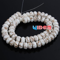 Wholesale 5 Strings Faceted Shaped Natural Turquoise Beads Gemstone Beads Fit Necklace Craft DIY