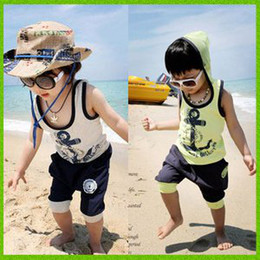 Wholesale baby clothes kids wear children clothing set vest shorts baby wear children suit baby costum